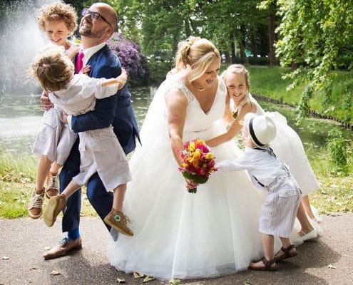 bruidsreportage buiten fotograaf vierkant