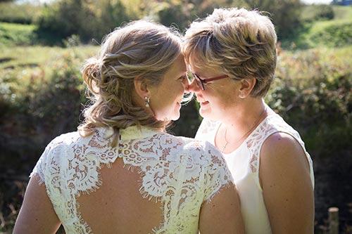 bruiloft foto's buiten