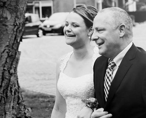 Bruiloft vader dochter vierkant