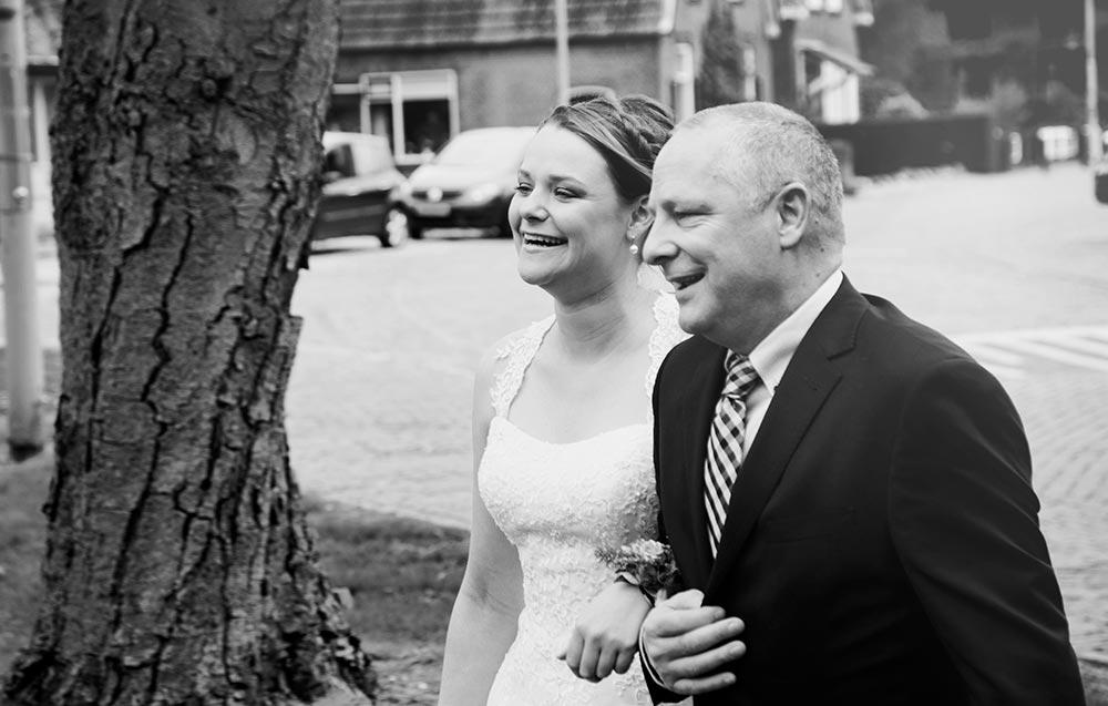 Bruiloft vader dochter