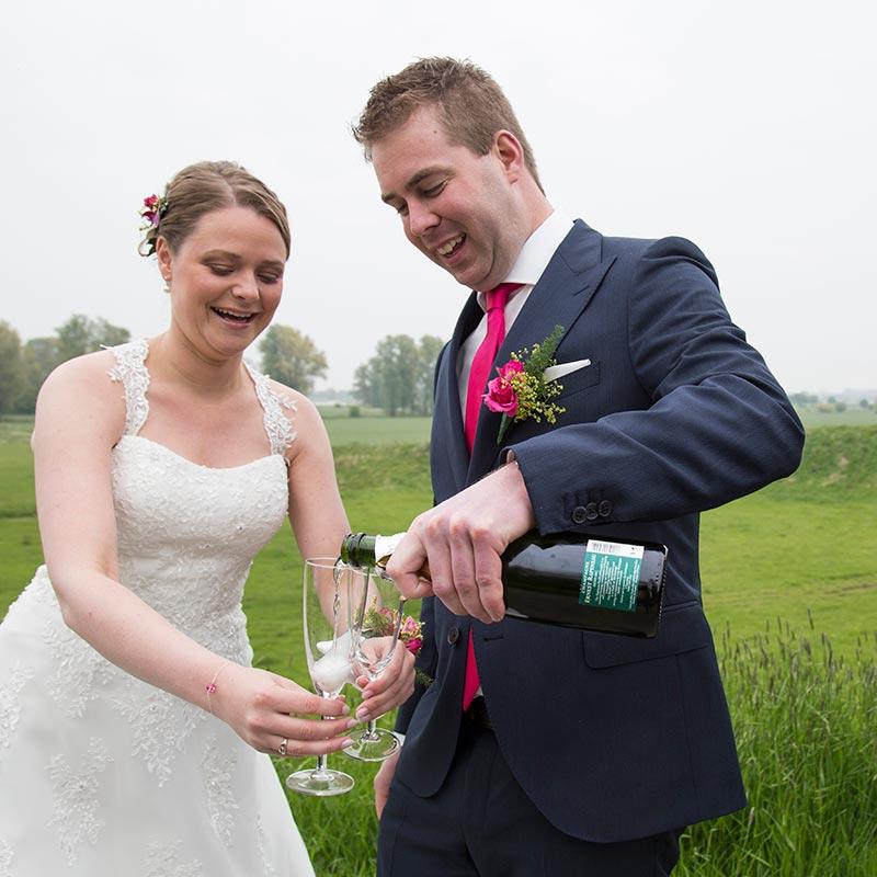bruiloft champagne