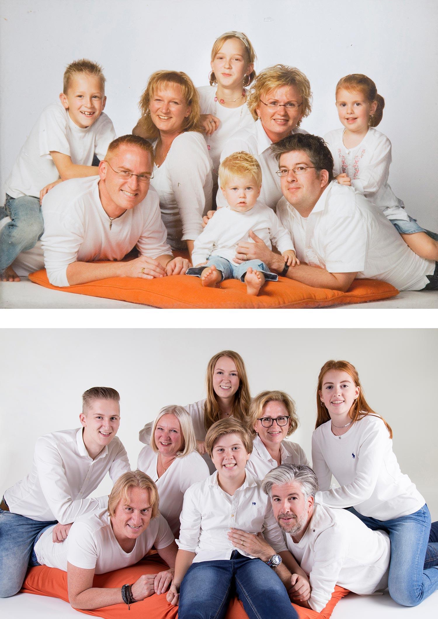 familiefoto vroeger namaken
