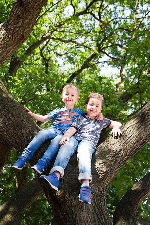 fotoshoot buiten met kinderen