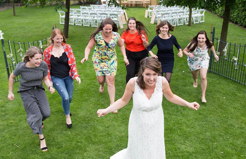 spontane bruidsfotografie uden