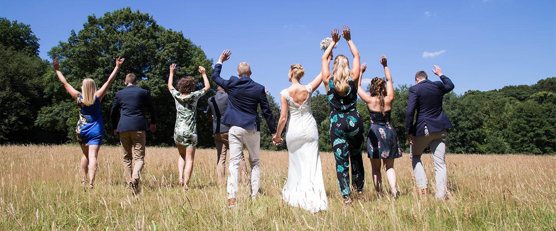 bruidsreportage met vrienden