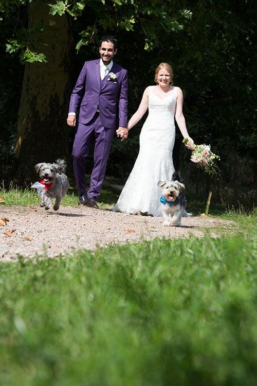 bruidsfotografie met honden