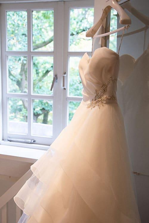 Professionele trouwfoto bruidsjurk