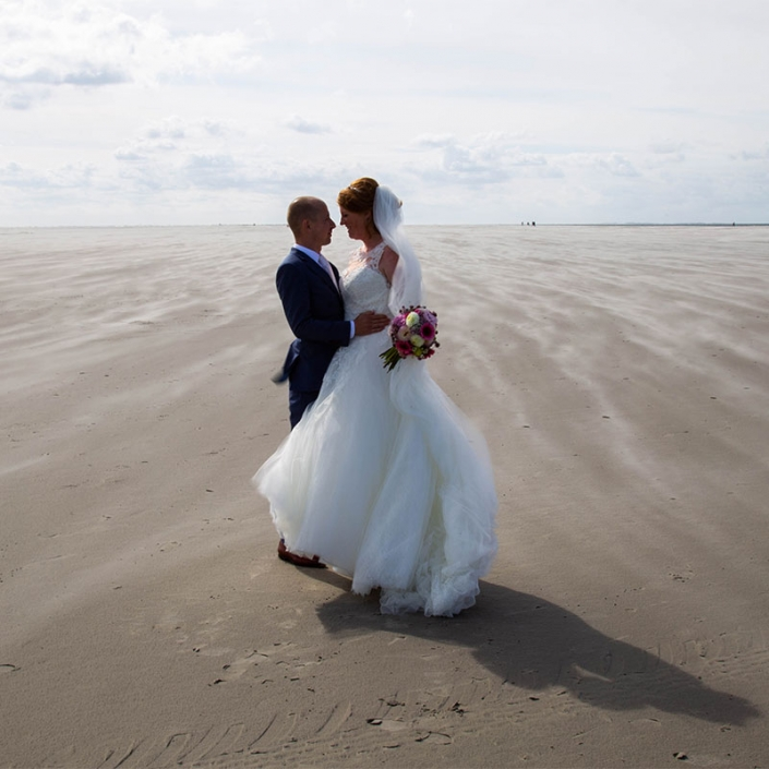 foto buiten bruiloft