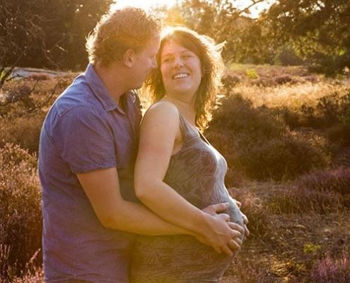 spontane zwangerschapsfotoshoot op locatie