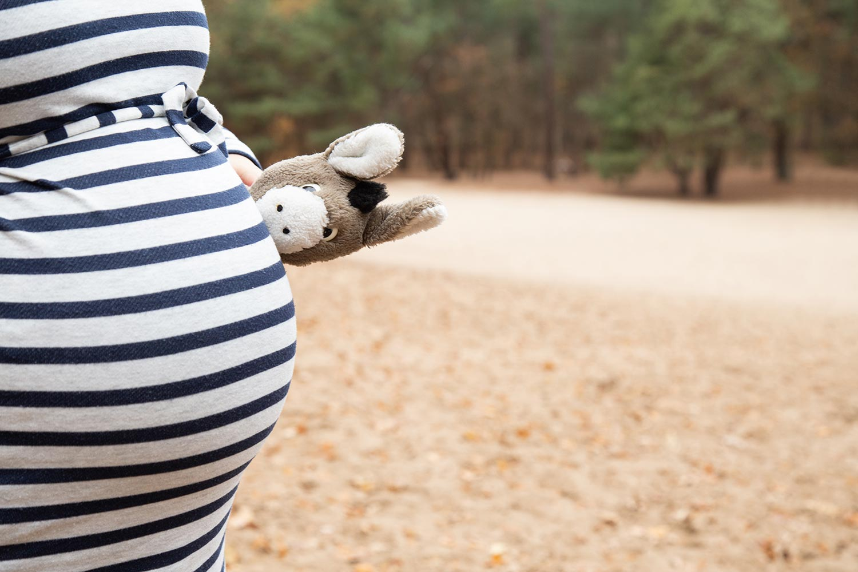 buiten fotoshoot zwanger