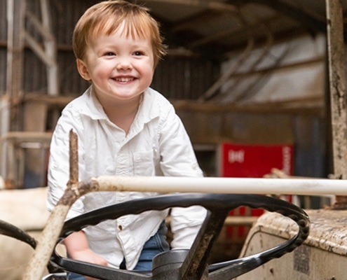 boerderijfotoshoot Tractor