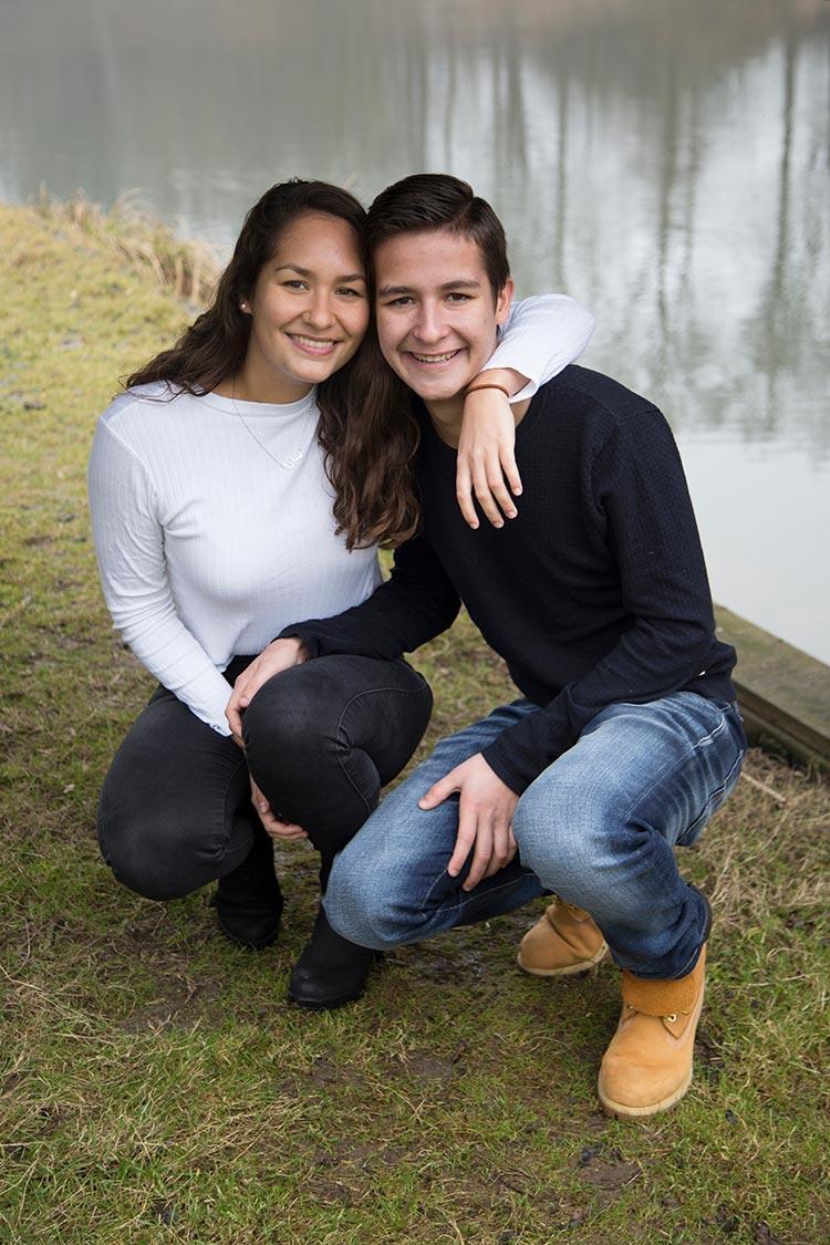 spontane fotoshoot broer en zus