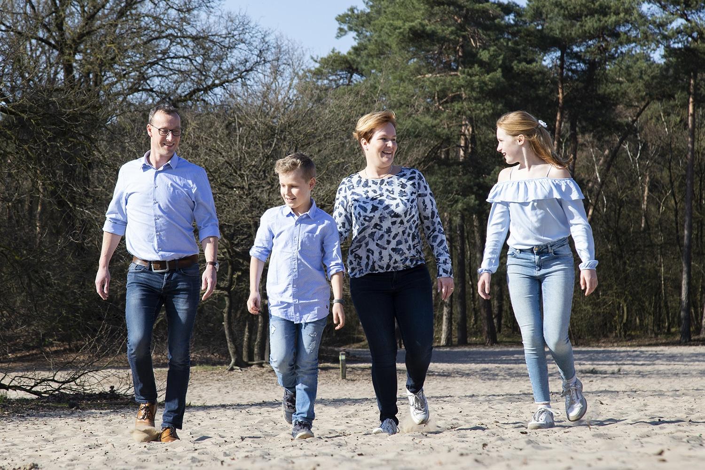 Familie fotoshoot Bedafse Bergen Uden