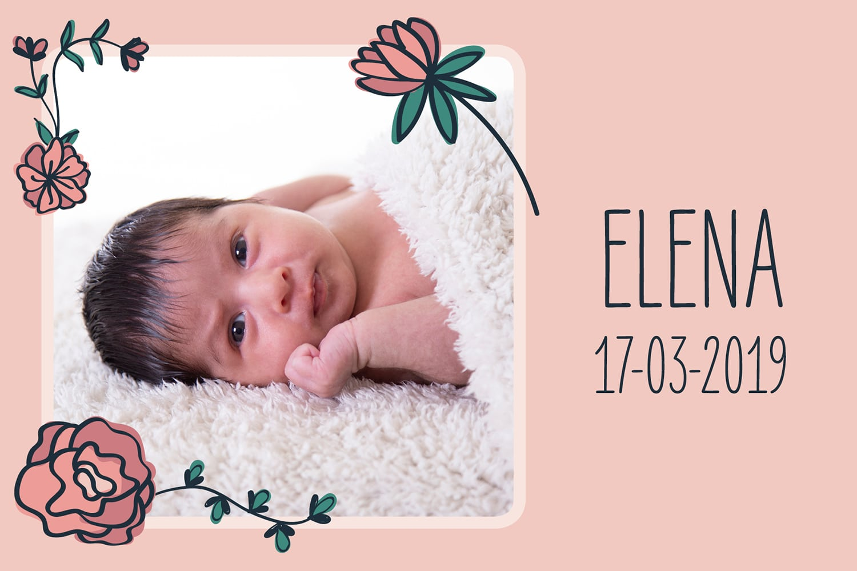 newbornshoot met geboortekaartje