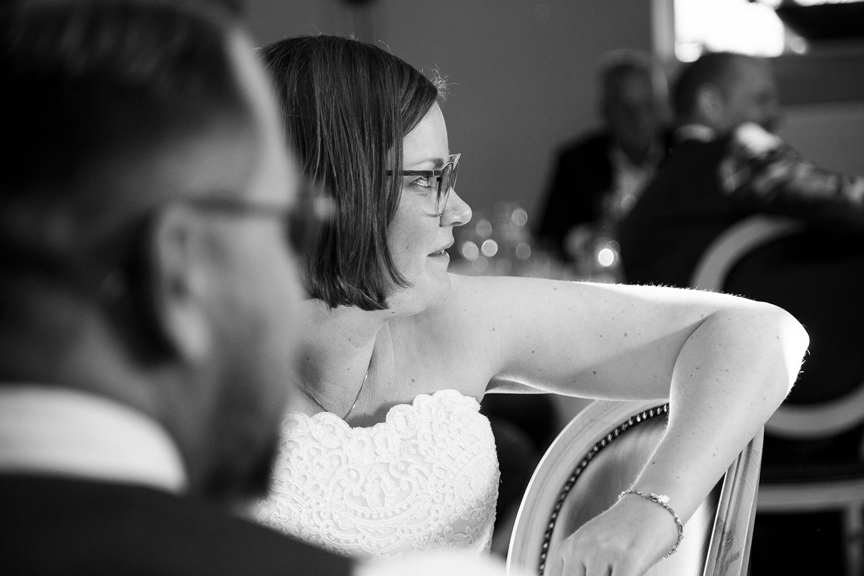 bruidsfotografie landgoed marienwaerdt zwartwit