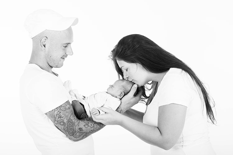 gezin newborn shoot