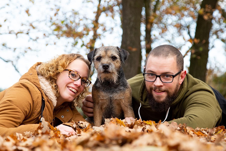 herfst shoot gezin hond