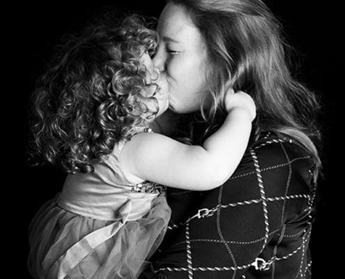 moeder dochter foto in de studio