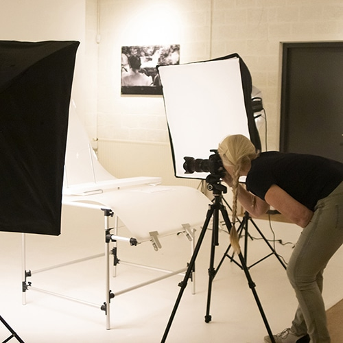 workshop product fotos maken in studio