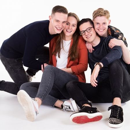 Familie fotoshoot in studio Brabant