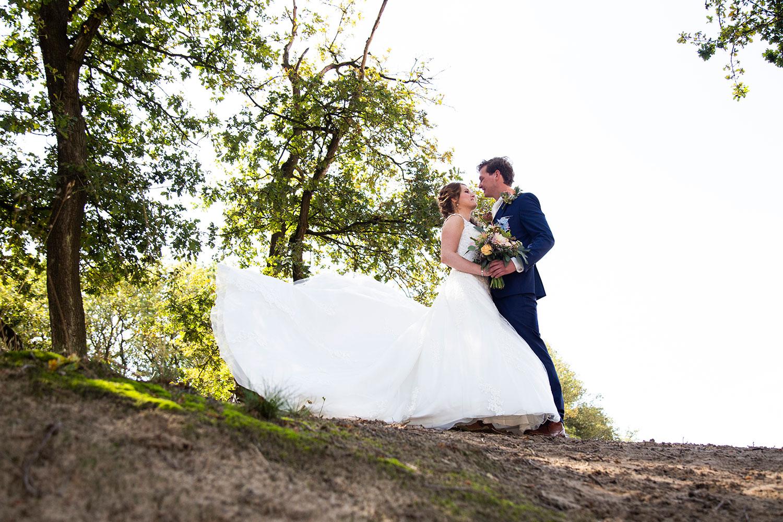 bruiloft fotograaf buiten shoot