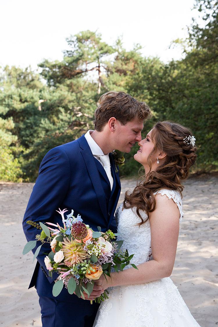 bruiloft shoot buiten