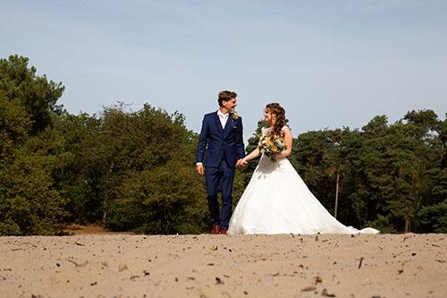 bruiloft shoot op locatie