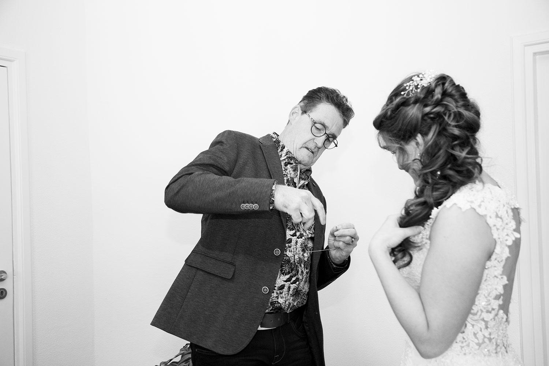 vader en dochter bruiloft fotograaf
