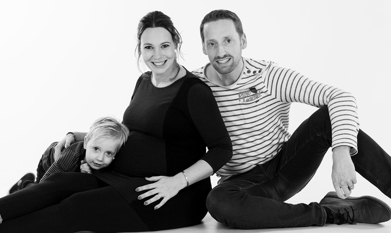 zwangerschapshoot met gezin