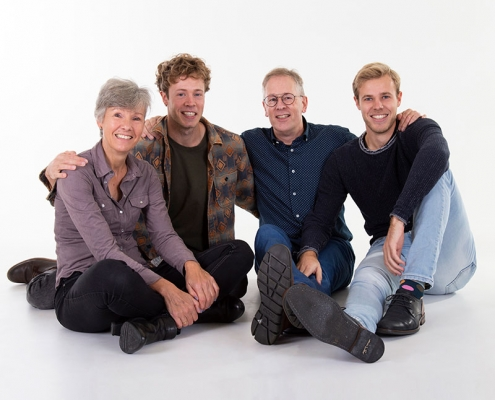 familie fotoshoot in de studio