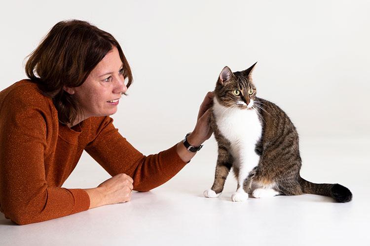 kattenshoot knuffel met baasje