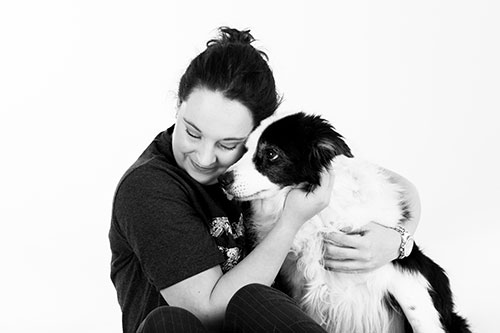hondenfotografie knuffel met hond
