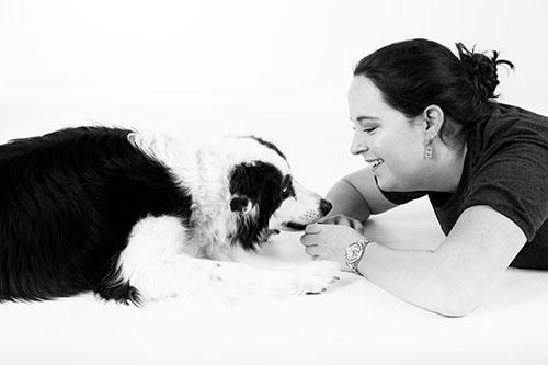 hondenfotoshoot in studio witte achtergrond