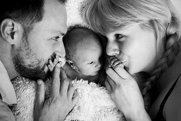 ouders met pasgeboren kindje