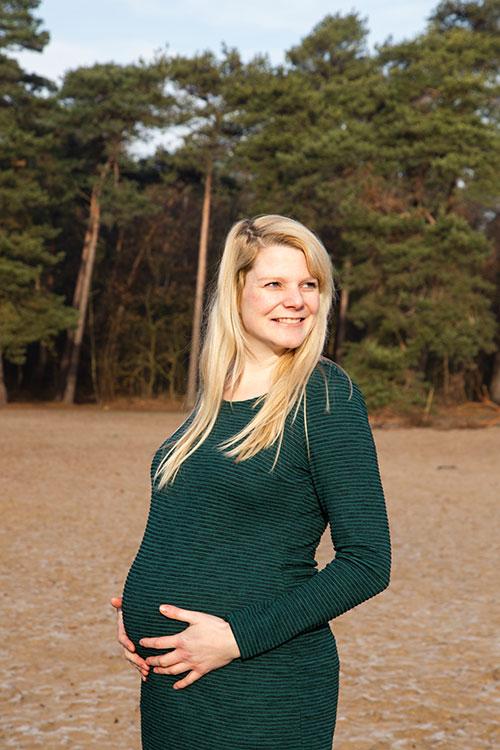zwangerschapsfotografie in natuur