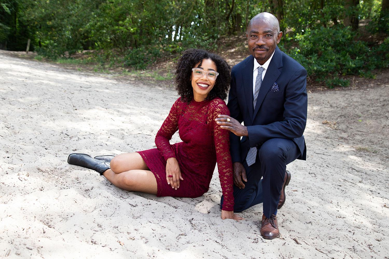 familiefotoshoot op zandvlakte in uden
