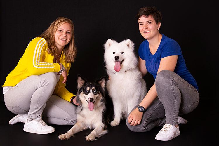 fotoshoot met hond in de fotostudio