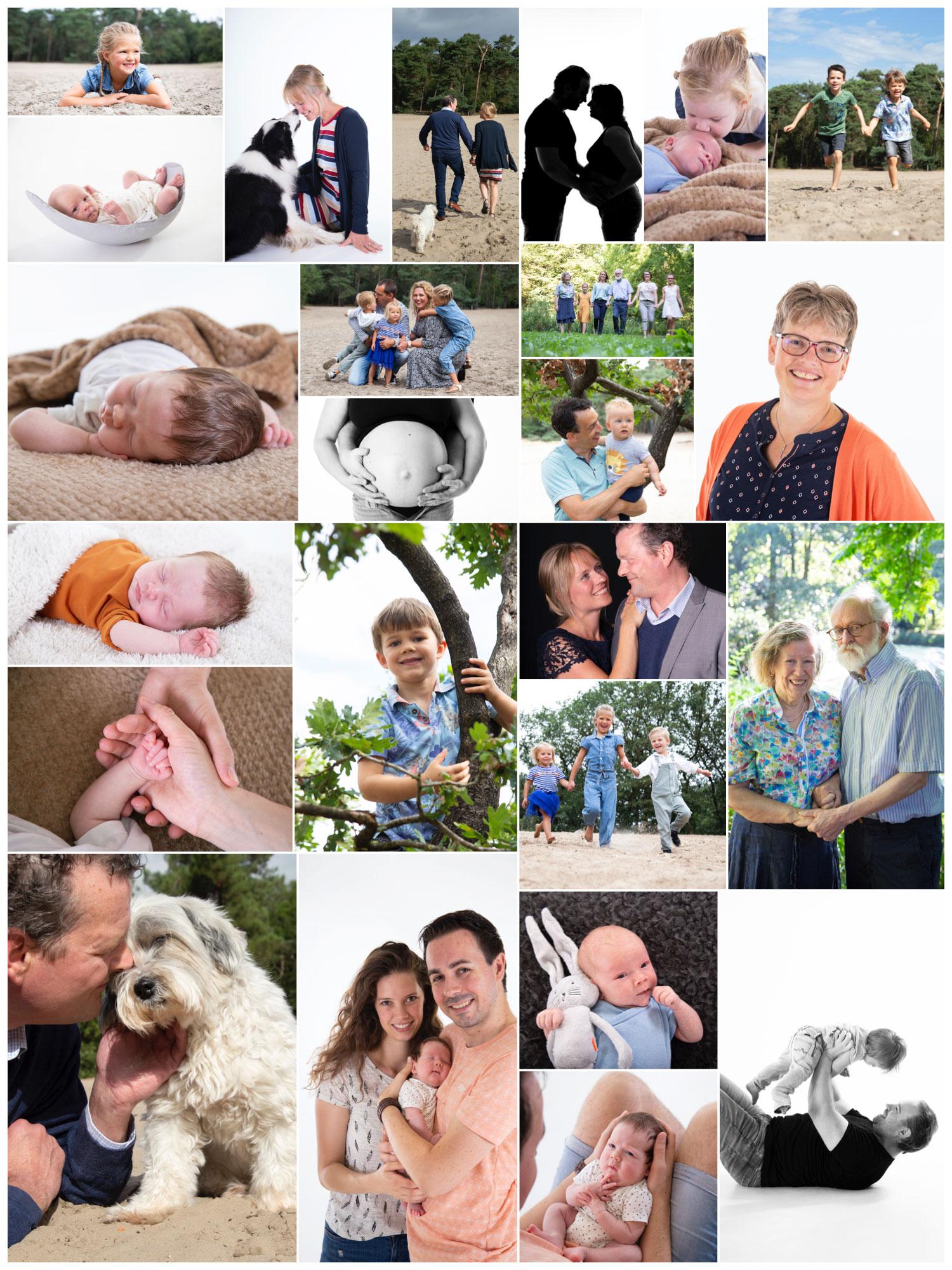 collage maandoverzicht fotografie augustus