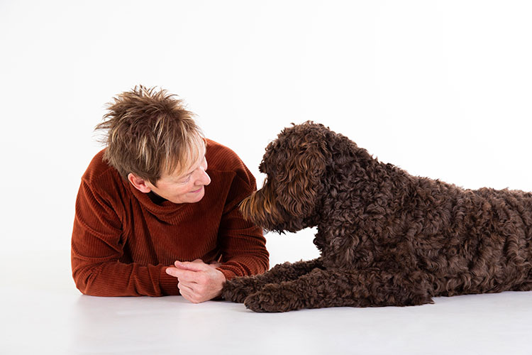 hondenfotoshoot met baasje