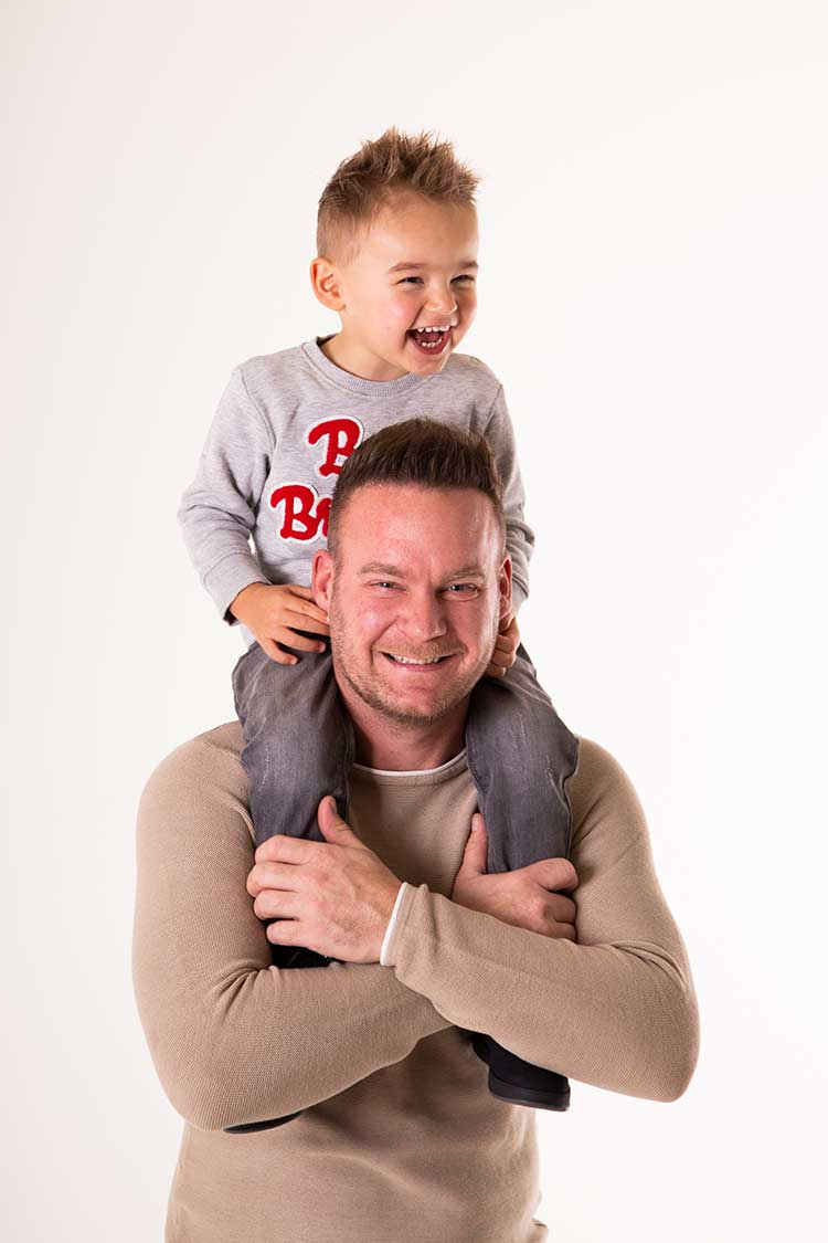vader zoon fotoshoot